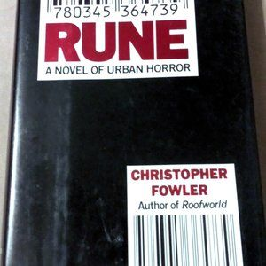 First Edition Urban Horror Novel Rune